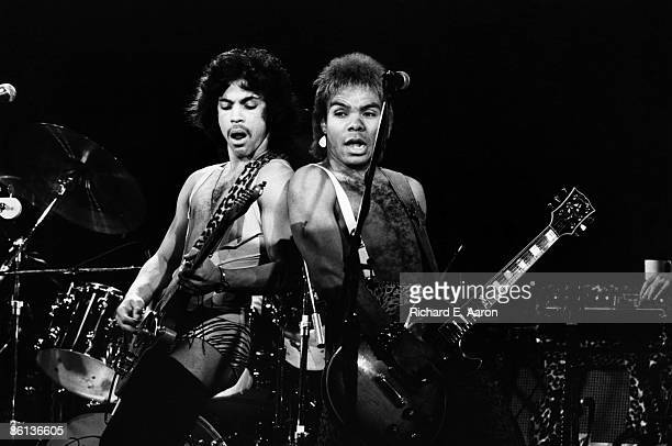 Photo of PRINCE, Prince performing on stage - Dirty Mind Tour