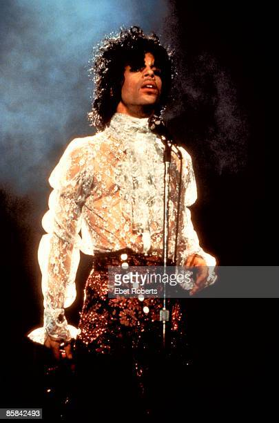 CLUB Photo of PRINCE Prince performing on stage Purple Rain Tour