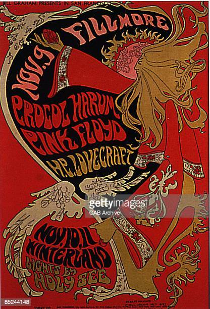 SAN FRANCISCO Photo of PROCOL HARUM and CONCERT POSTERS and PINK FLOYD Poster for Fillmore West and Winterland shows with Procol Harum which Pink...