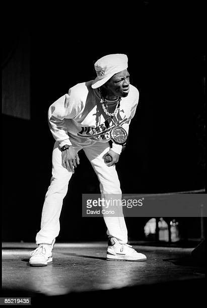 ODEON Photo of PUBLIC ENEMY Flavour Flav of Public Enemy performing at Hammersmith Odeon 11 February 1987