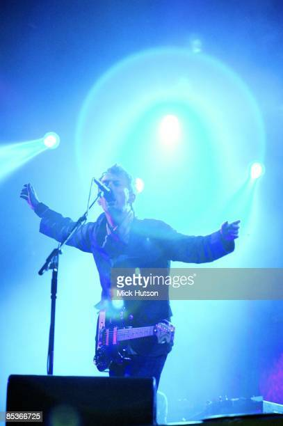 FESTIVAL Photo of RADIOHEAD Thom Yorke performing live onstage
