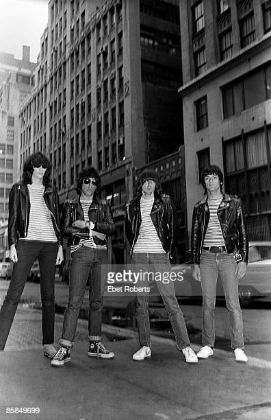 Photo of RAMONES LR Joey Ramone Marky Ramone Johnny Ramone Dee Dee Ramone