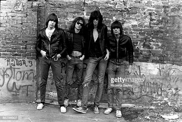 Photo of RAMONES The Ramones are pictured for their first album cover