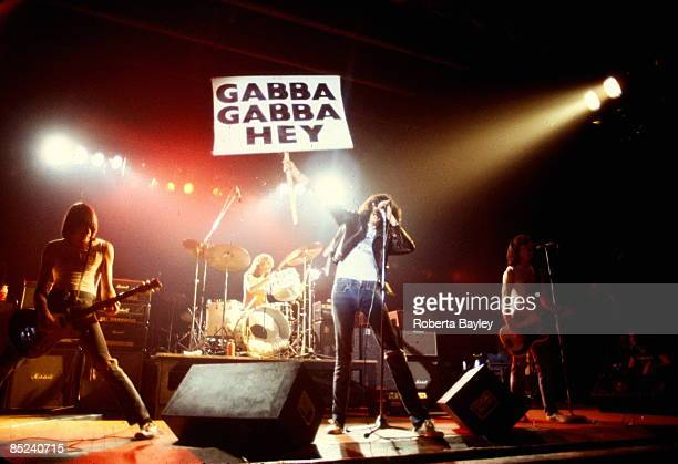 Photo of RAMONES The Ramones performing at CBGB