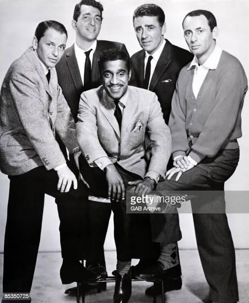 USA Photo of RAT PACK LR Frank Sinatra Dean Martin Sammy Davis Jnr Peter Lawford Joey Bishop 1960