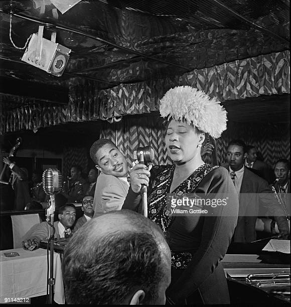 Photo of Ray BROWN and Dizzy GILLESPIE and Ella FITZGERALD with Dizzy Gillespie Ray Brown