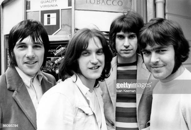 Photo of Ray DAVIES and Mick AVORY and KINKS and John DALTON and Dave DAVIES; L-R: Mick Avory, Dave Davies, Ray Davies, John Dalton - posed, group...