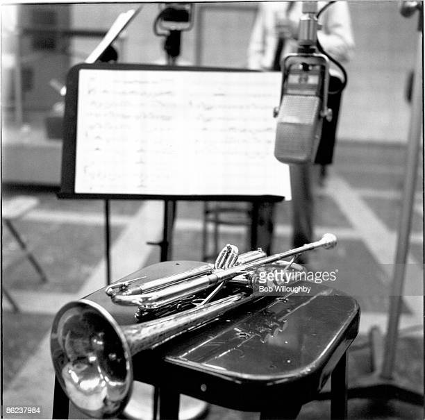 Photo of RECORDING STUDIO and TRUMPET and MUSIC SHEET Chet Baker's trumpet