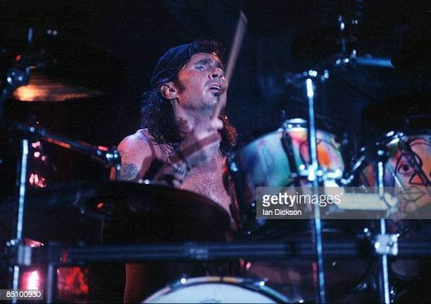 Photo of RED HOT CHILI PEPPERS and Chad SMITH Drummer Chad Smith performing on stage