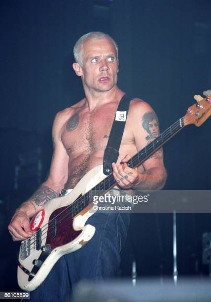 HOLLYWOOD Photo of RED HOT CHILI PEPPERS Red Hot Chili Peppers bass player Flea performing at the Ramones 30th Anniversary concert held at The Avalon...