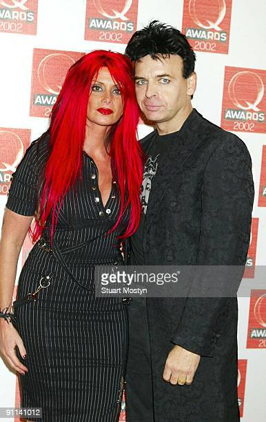 AWARDS Photo of REF /Q AWARDS/OLD SAATCHI GALLERY/SM Gary Numan and wife Gemma at the Q Awards at the Old Saatchi Gallery London NW8