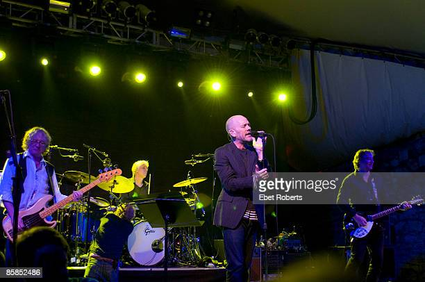 UNITED STATES MARCH 12 SOUTH BY SOUTH WEST Photo of REM and Bill RIEFLIN and Michael STIPE and Mike MILLS and Peter BUCK Group performing stage at...