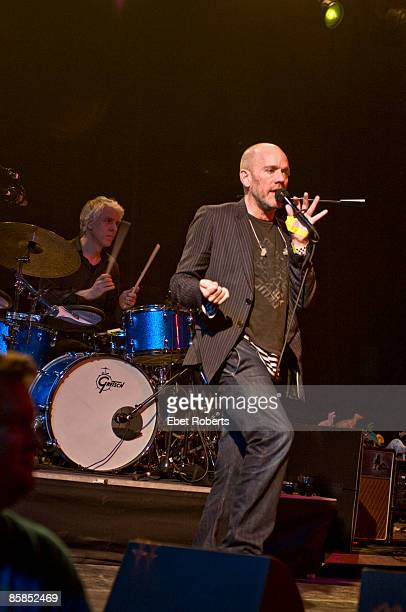 UNITED STATES MARCH 12 SOUTH BY SOUTH WEST Photo of REM and Bill RIEFLIN and Michael STIPE Bill Rieflin and Michael Stipe performing stage at Stubbs...