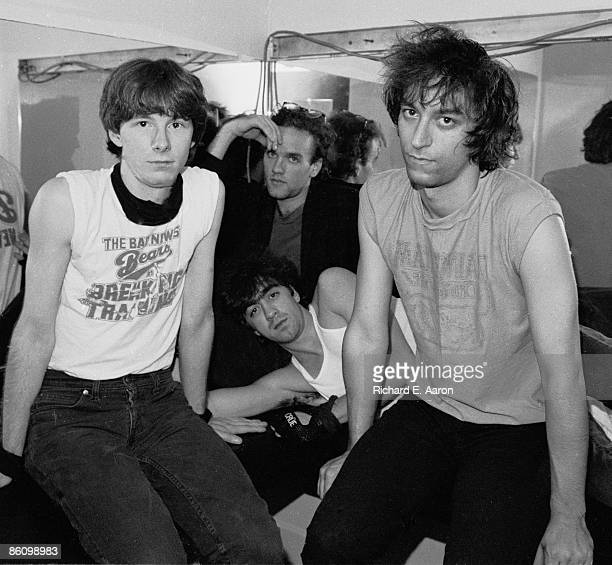 PALLADIUM Photo of REM and Mike MILLS and Bill BERRY and Peter BUCK and Michael STIPE LR Mike Mills Michael Stipe Bill Berry Peter Buck posed group...