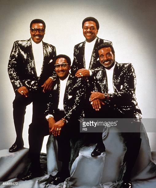 Photo of Renaldo BENSON and Levi STUBBS and Lawrence PAYTON and FOUR TOPS and Abdul FAKIR Posed studio group portrait LR Lawrence Payton Abdul 'Duke'...