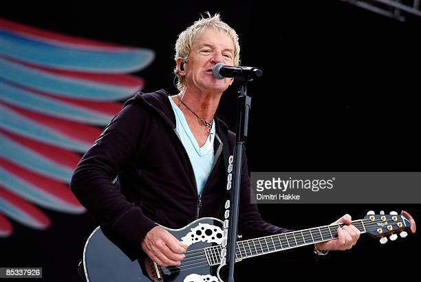 FESTIVAL Photo of REO SPEEDWAGON and Kevin CRONIN Kevin Cronin performing on stage