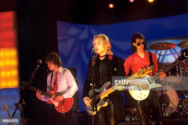 Photo of Ric OCASEK and CARS and Elliot EASTON and Benjamin ORR; L-R. Elliot Easton, Benjamin Orr, Ric Ocasek at Musikladen