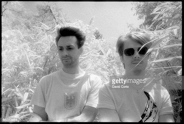 Photo of Richard H KIRK and Stephen MALLINDER and CABARET VOLTAIRE; L-R: Stephen Mallinder, Richard H Kirk in Holland Park, London