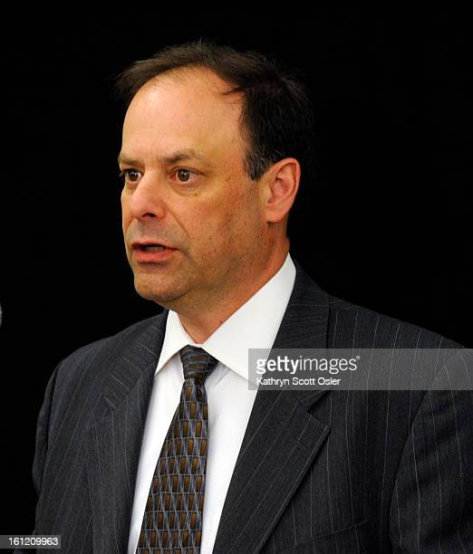 Photo of Richard Rosenthal Office of the Independent Monitor Manager of Safety Charles Garcia announces at a press conference from inside the Van...