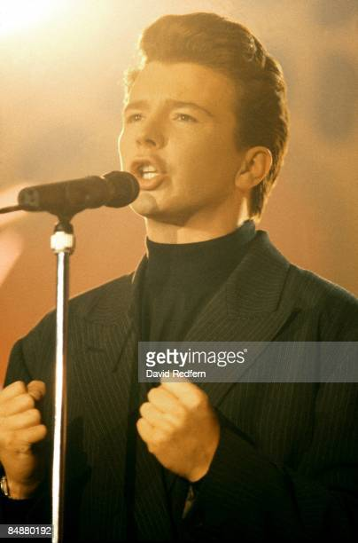 FESTIVAL Photo of Rick ASTLEY performing live on stage circa 1987
