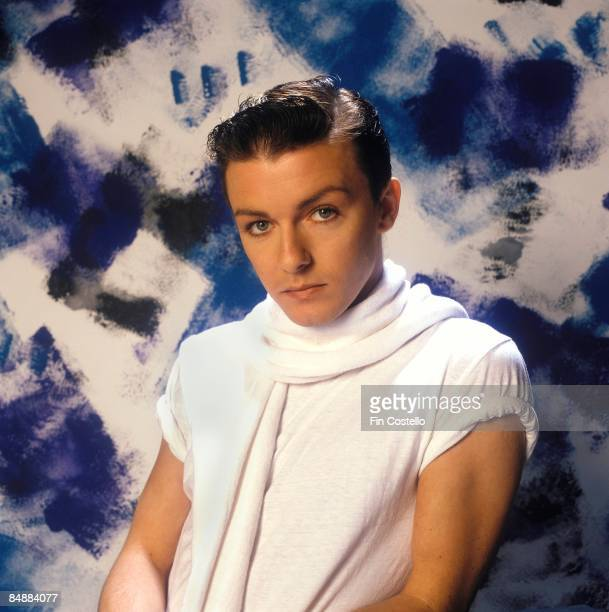 Photo of Ricky Gervais from SEONA DANCING posed in London in August 1983