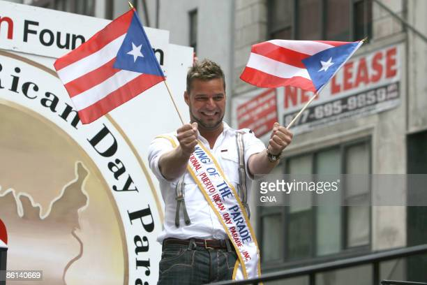 Photo of Ricky MARTIN Ricky Martin takes part in the 2007 Puerto Rican Day Parade in New York City on June 10 2007 Photos by GNA