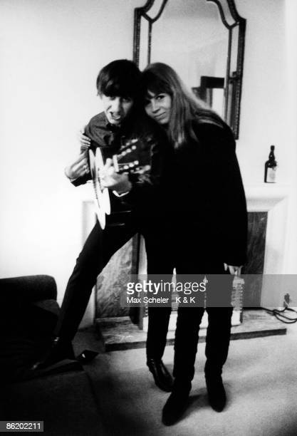 Photo of Ringo STARR and Astrid KIRCHHERR with Ringo Starr