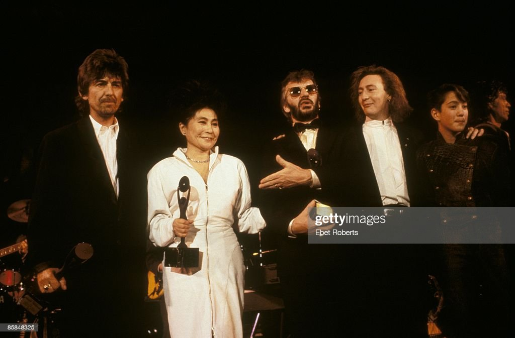 Photo of Ringo STARR and George HARRISON and Yoko ONO and BEATLES : News Photo