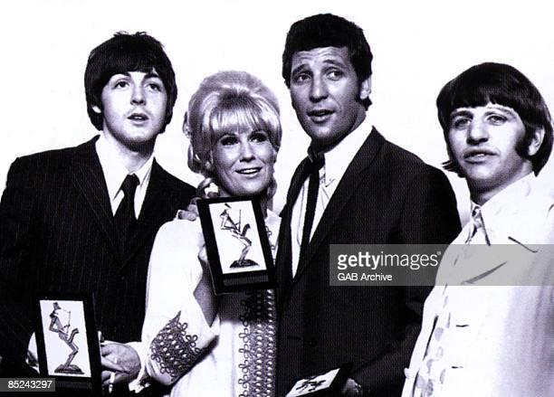 Photo of Ringo STARR and Tom JONES and Paul McCARTNEY and Dusty SPRINGFIELD LR Paul McCartney Dusty Springfield Tom Jones Ringo Starr posed at Melody...