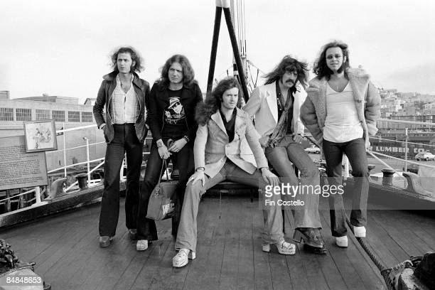 FRANCISCO Photo of Ritchie BLACKMORE and David COVERDALE and Glenn HUGHES and Jon LORD and Ian PAICE and DEEP PURPLE LR Ricthie Blackmore David...