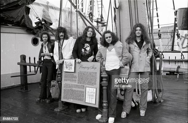 Photo of Ritchie BLACKMORE and DEEP PURPLE and Glenn HUGHES and Ian PAICE and David COVERDALE and Jon LORD LR Ritchie Blackmore Jon Lord David...