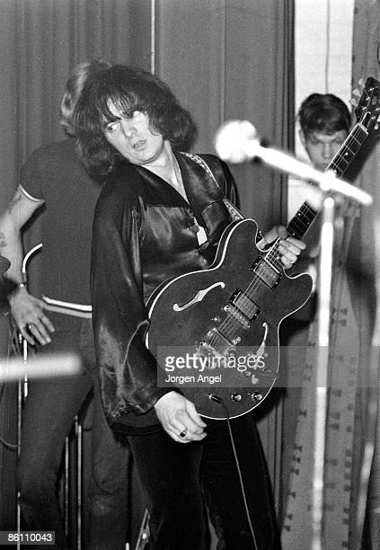 Photo of Ritchie BLACKMORE and DEEP PURPLE Ritchie Blackmore performing live onstage at Galsaxe Teenclub playing Gibson ES335 guitar Bigsby Vibrato