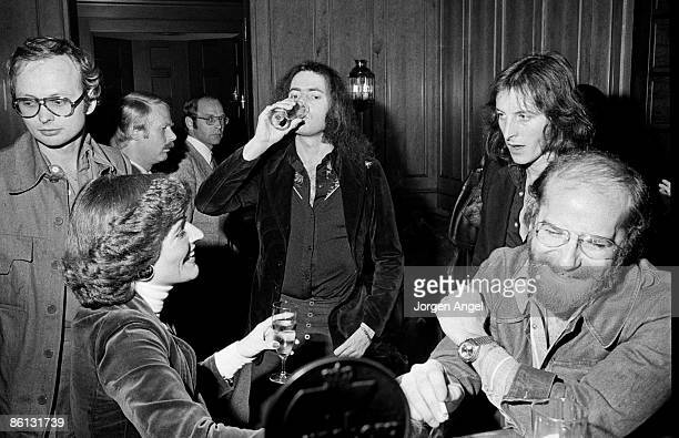 Photo of Ritchie BLACKMORE The gentleman to the left with glasses is the Danish promoter Erik Thomsen The lady in front is his girlfriend