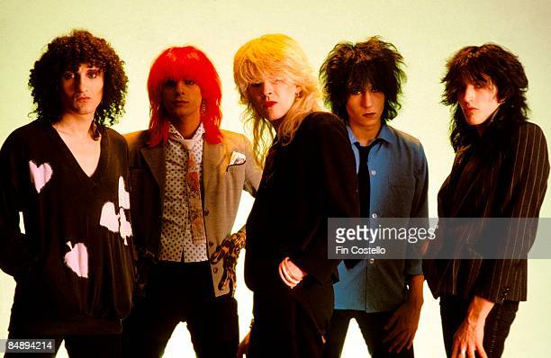Photo of Rob DEAN and Mick KARN and JAPAN and Richard BARBIERI and David SYLVIAN and Steve JANSEN LR Rob Dean Mick Karn David Sylvian Richard...