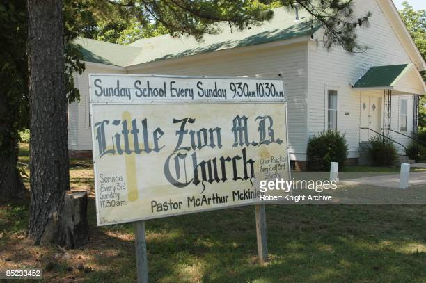 Photo of Robert JOHNSON and Robert JOHNSON Church where Robert Johnson grave is located in Greenwood Mississippi