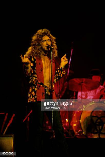 COURT Photo of Robert PLANT and LED ZEPPELIN LR Robert Plant John Bonham in bowler hat performing live onstage