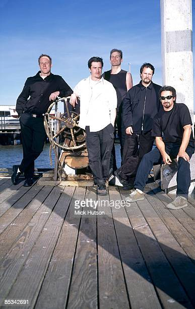 Photo of Roddy BOTTUM and Mike PATTON and Mike BORDIN and Jon HUDSON and FAITH NO MORE; Posed group portrait L-R Roddy Bottum, Mike Patton, Jon...