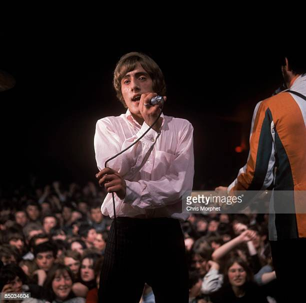 Photo of Roger DALTREY and The Who Roger Daltrey John Entwistle performing live onstage with audience behind