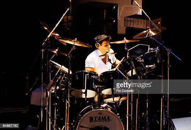 Photo of Roger TAYLOR and DURAN DURAN Roger Taylor performing live onstage playing drums