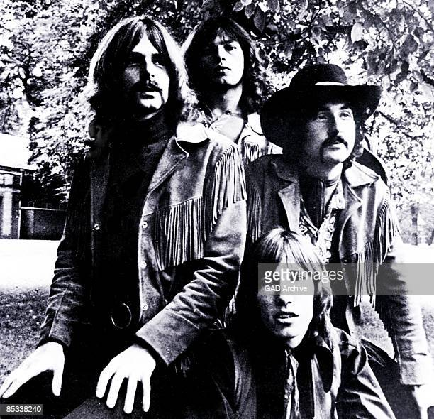 Photo of Roger WATERS and PINK FLOYD and Rick WRIGHT and David GILMOUR and Nick MASON LR Rick Wright David Gilmour Nick Mason Roger Waters posed...