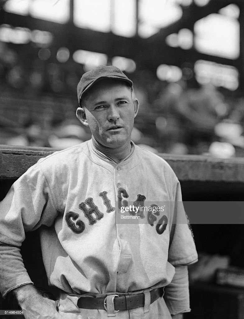A photo of Rogers Hornsby, the hard-hitting second baseman of the Chicago Cubs, leaders of the National League pennant race.