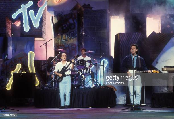 UNITED STATES SEPTEMBER 13 Photo of Roland ORZABAL and Curt SMITH and TEARS FOR FEARS Curt Smith Roland Orzabal performing at the MTV Awards at Radio...