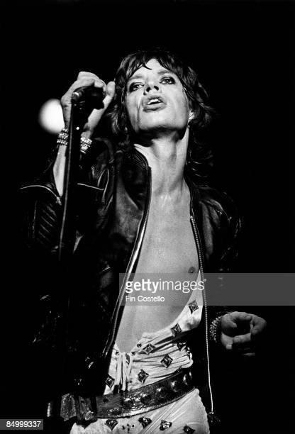 Photo of ROLLING STONES and Mick JAGGER with Rolling Stones performing live onstage at Manchester BelleVue