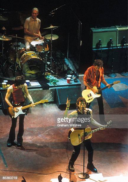 S BUSH EMPIRE Photo of ROLLING STONES LR Ron Wood Charlie Watts Mick Jagger Keith Richards performing live onstage on No Security tour