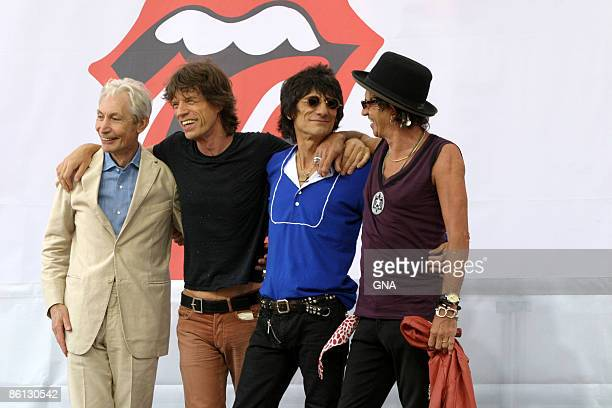 Photo of ROLLING STONES The Rolling Stones host press conference to announce their upcoming world tour at the Julliard School in New York City on May...
