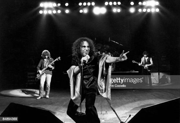 Photo of Ronnie DIO and BLACK SABBATH LR Geezer Butler Ronnie Dio Tony Iommi at Gaumont