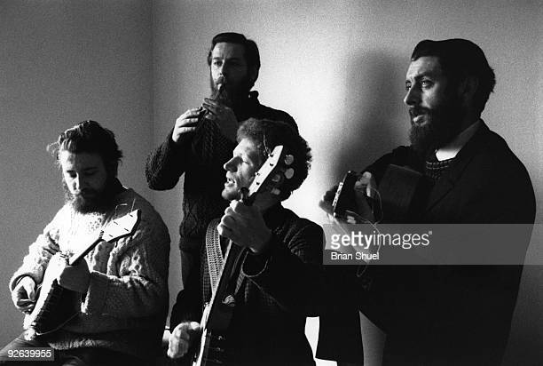 Photo of Ronnie DREW and Luke KELLY and Barney McKENNA and DUBLINERS LR Barney McKenna Ciaran Bourke Luke Kelly Ronnie Drew Picture used on the cover...