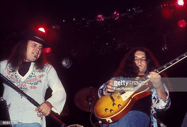 UNITED STATES JULY 13 CONVENTION CENTER Photo of Ronnie VAN ZANT and Gary ROSSINGTON and LYNYRD SKYNYRD Ronnie Van Zant and Gary Rossington...