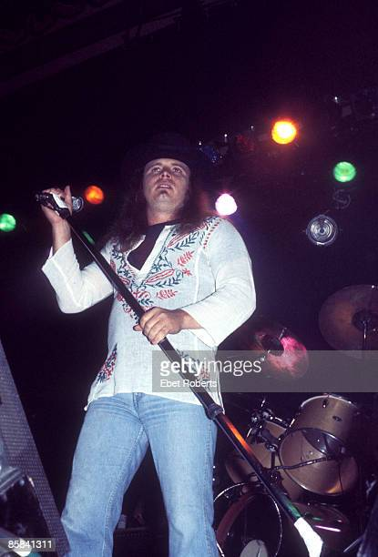CENTER Photo of Ronnie VAN ZANT and LYNYRD SKYNYRD Ronnie Van Zant performing live onstage