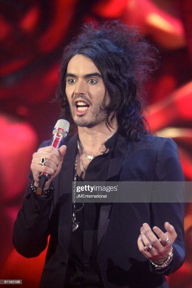AWARDS Photo of RUSSELL BRAND, presenting the 2007 Brit Awards at Earls Court